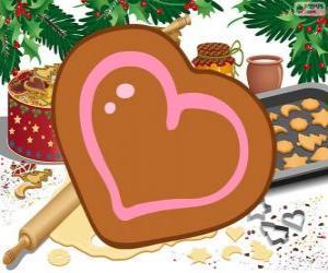 Rompicapo di Biscotto a forma di cuore