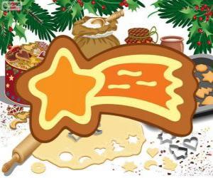 Rompicapo di Biscotto come una stella di Natale
