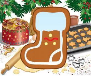 Rompicapo di Biscotto de stivale di Babbo Natale