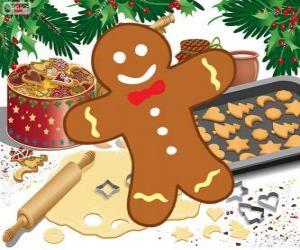 Rompicapo di Biscotto decorato dell'Omino di pan di zenzero