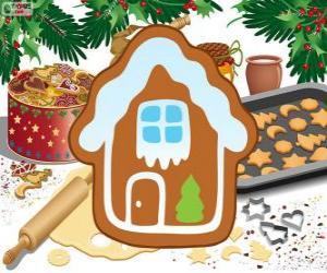 Rompicapo di Biscotto di Natale a forma di casa