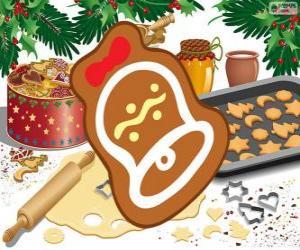 Rompicapo di Biscotto di Natale come una campana