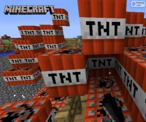Rompicapo di Blocco esplosivo TNT di Minecraft