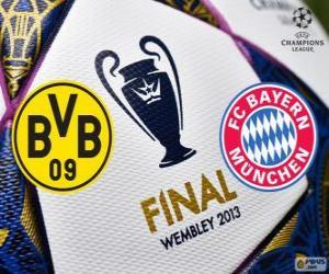 Rompicapo di Borussia Dormunt vs Bayern Monaco. Finale di UEFA Champions League 2012-2013. Wembley Stadium, Londra, Gran Bretagna