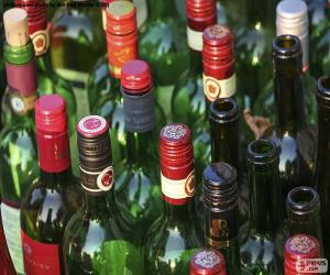 Rompicapo di Bottiglie di vino vuote