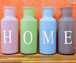 """Rompicapo di Bottiglie """"HOME"""""""