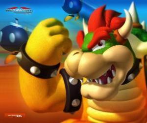 Rompicapo di Bowser o Re Koopa, il nemico principale nei giochi di Mario
