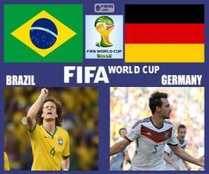 Rompicapo di Brasile - Germania, semifinali,, Brasile 2014