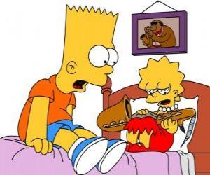 Rompicapo di Brat sorpreso di vedere Lisa con uno strumento