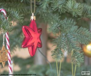 Rompicapo di Brillare stella rossa di Natale