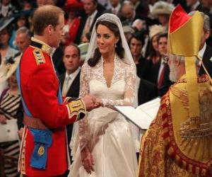 Rompicapo di British Royal Wedding tra il principe William e Kate Middleton, se voglio