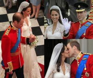 Rompicapo di British Royal Wedding tra il principe William e Kate Middleton, una volta sposati