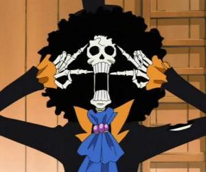 Rompicapo di Brook, uno scheletro musicista da One Piece