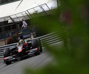 Rompicapo di Bruno Senna-HRT - Monte-Carlo 2010