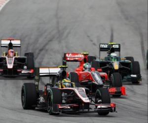 Rompicapo di Bruno Senna - HRT - Sepang 2010