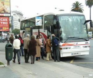 Rompicapo di Bus urbano nella fermata dell'autobus