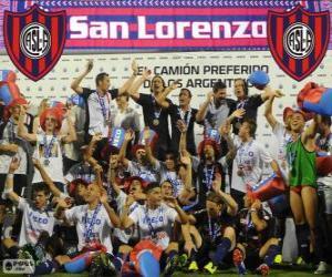 Rompicapo di CA San Lorenzo de Almagro, campione del Torneo Inicial 2013, Argentina