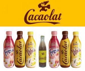 Rompicapo di Cacaolat è un marchio di milkshake e cacao, ma ci sono anche vaniglia e fragola scuote.