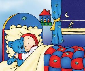 Rompicapo di Caillou dormire
