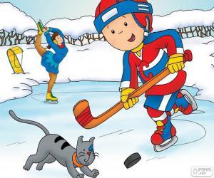 Rompicapo di Caillou e Gilbert, hockey