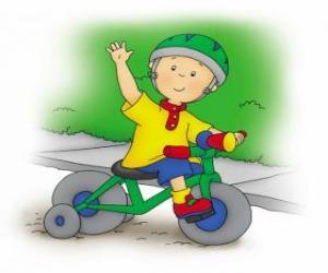 Rompicapo di Caillou, in sella a una bicicletta
