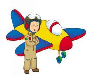 Rompicapo di Caillou l'aviatore