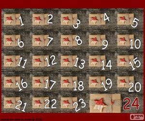 Rompicapo di Calendario avvento di regali
