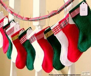 Rompicapo di Calze di Natale in vari colori