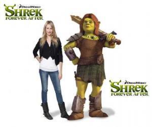 Rompicapo di Cameron Diaz fornisce la voce di Fiona, il guerriero, l'ultimo film Shrek e vissero felici e contenti
