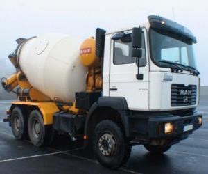 Rompicapo di Camion betoniera MAN