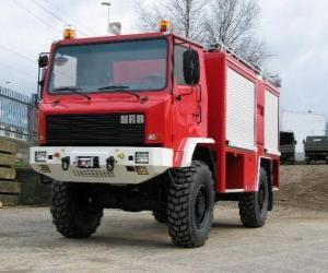 Rompicapo di camion dei pompieri tutti i terreni