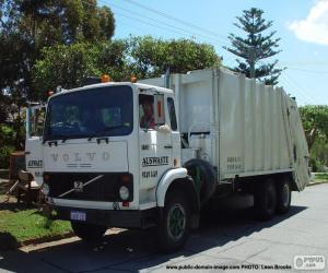 Rompicapo di Camion della spazzatura bianca