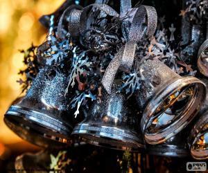 Rompicapo di Campane di Natale argento