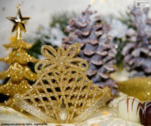 Rompicapo di Campane di Natale dorato