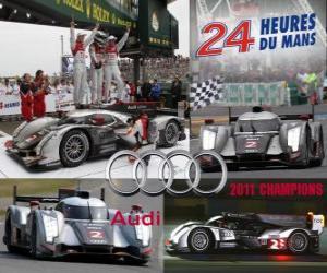 Rompicapo di Campioni 24 Ore di Le Mans 2011 Audi R18 TDI
