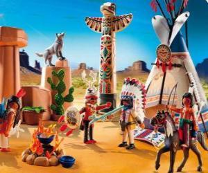 Rompicapo di Campo indiano Playmobil