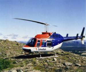 Rompicapo di Canadian elicottero Bell 206