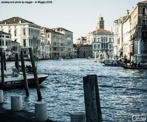 Rompicapo di Canal Grande di Venezia, Italia