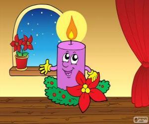 Rompicapo di Candela di Natale sorridente