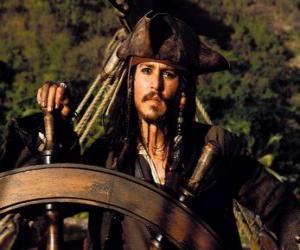 Rompicapo di Capitano pirata al timone della sua barca