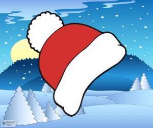 Rompicapo di Cappellino invernale rosso e bianco