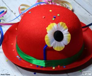 Rompicapo di Cappello a bombetta rosso fiore