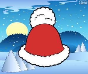 Rompicapo di Cappello con nappa bianca di Santa