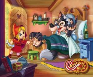 Rompicapo di Cappuccetto Rosso arriva alla casa della nonna