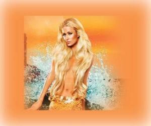 Rompicapo di Carina sirena con i suoi capelli lunghi