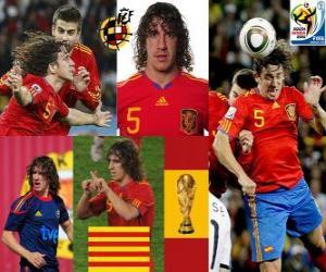 Rompicapo di Carles Puyol (La testa di Spagna) difesa team spagnolo