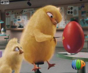 Rompicapo di Carlos e Phil dipinto un uovo