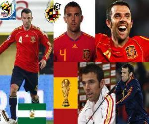 Rompicapo di Carlos Marchena (L'invincibile) difesa team spagnolo