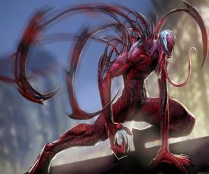 Rompicapo di Carnage è un supercriminale simbiotica, avversario di Spider-Man e acerrimo nemico di Venom