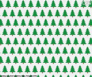 Rompicapo di Carta alberi di Natale